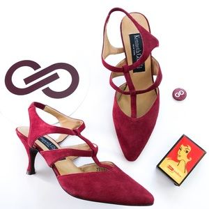 Kenneth Cole Deadstock 90's Burgundy Suede Heels